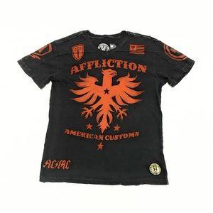 Affliction American Customs AC\MC Raw Seam T-Shirt